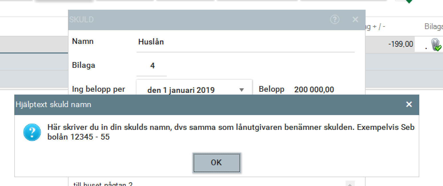 hjalpfunktion i programfönster 2